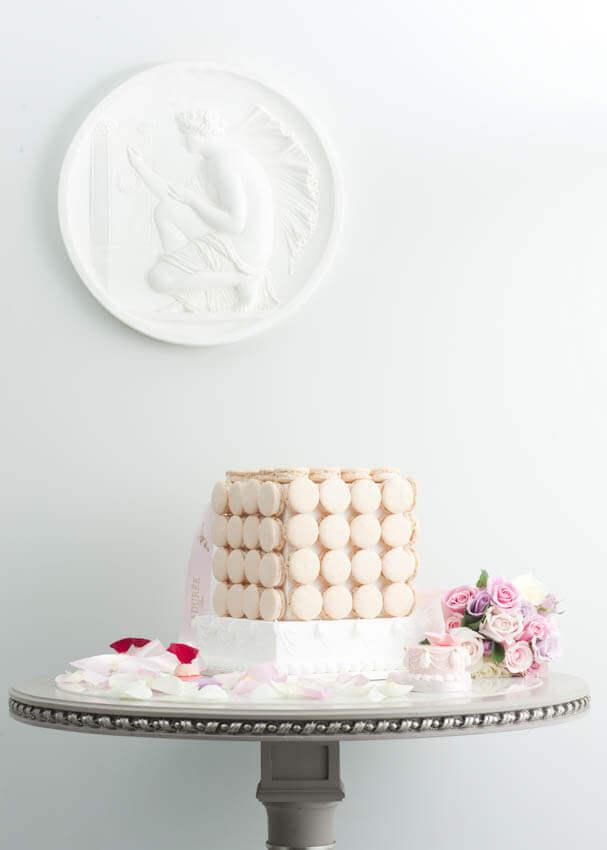 Bruidstaart Macaron Vanille Laduree