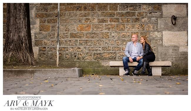 Loveshoot oever Seine Boulevard Parijs