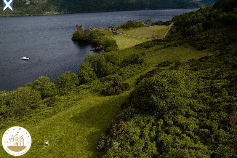 Scotland Destination Wedding Photographer Urquhart Castle Drone 07