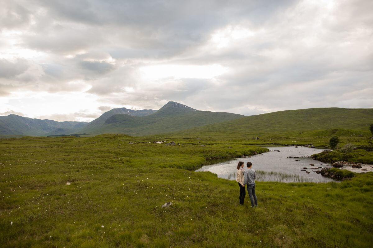 Verlovingsshoot in Schotland