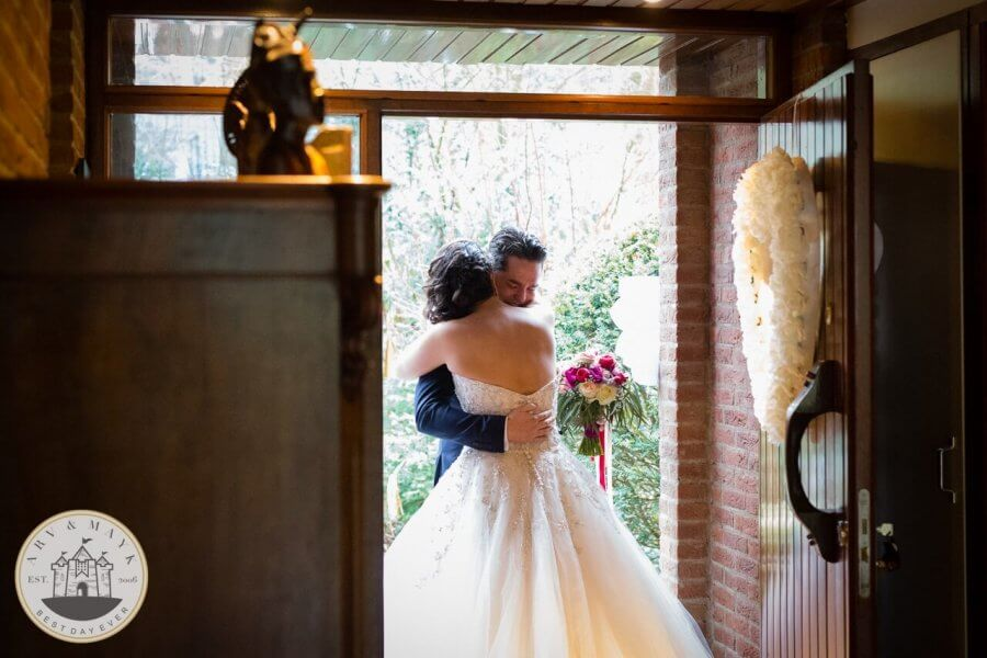 Bruidsfotografie bij het landgoed in Nijkerk