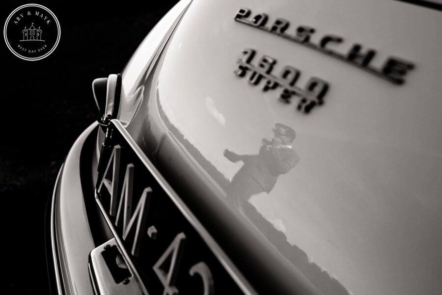 Sneak Peak bruidsfotografie Schokland met Porsche