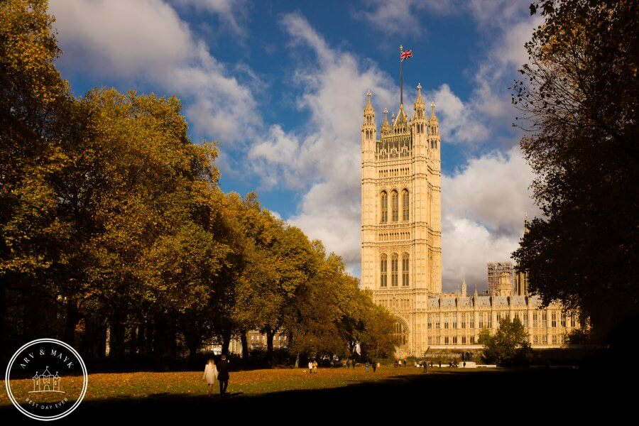 Loveshoot in herfstig Londen
