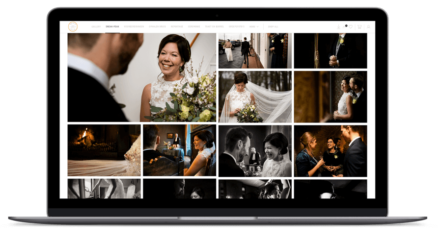 Online gallery bruidsfoto